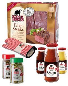 FILET STEAK PREMIUM Set mit Frischfleisch, Grillsaucen & Co.