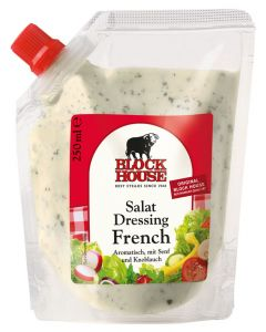 Block House Salat Dressing French, Folienbeutel 250 ml